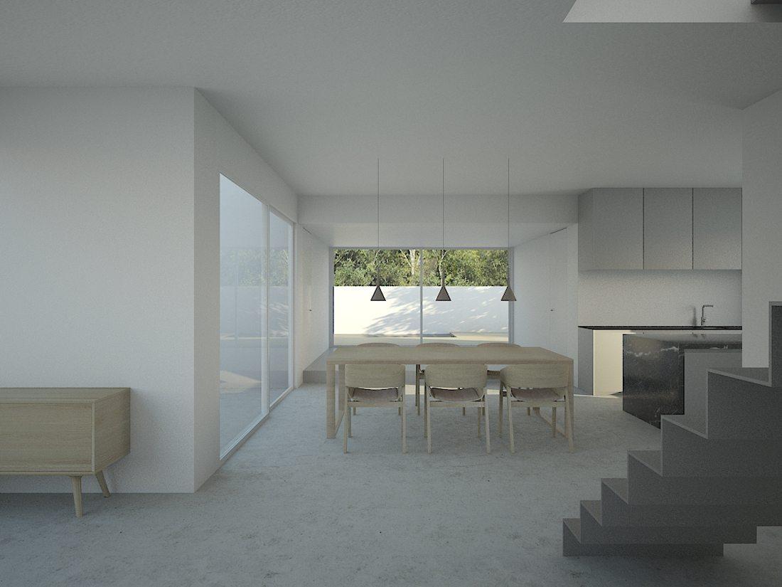 casa de los almendros-escalera-comedor-patio-cocina