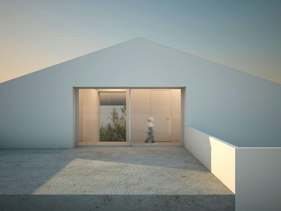 homu-arquitectura-castellón-casa_de_los_almendros-04-terraza-cubierta_inclinada-hueco_muro-minimalista-hormigón-volumen-blanco