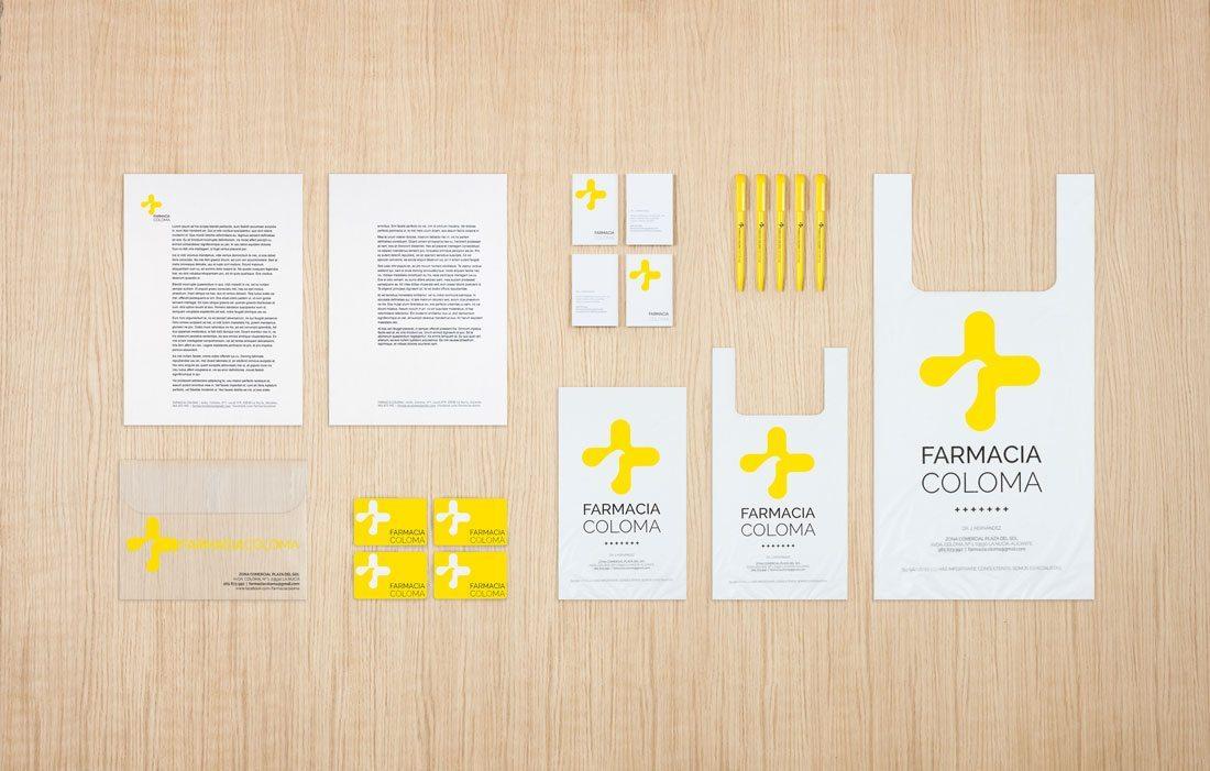 branding coloma. marca de empresa.