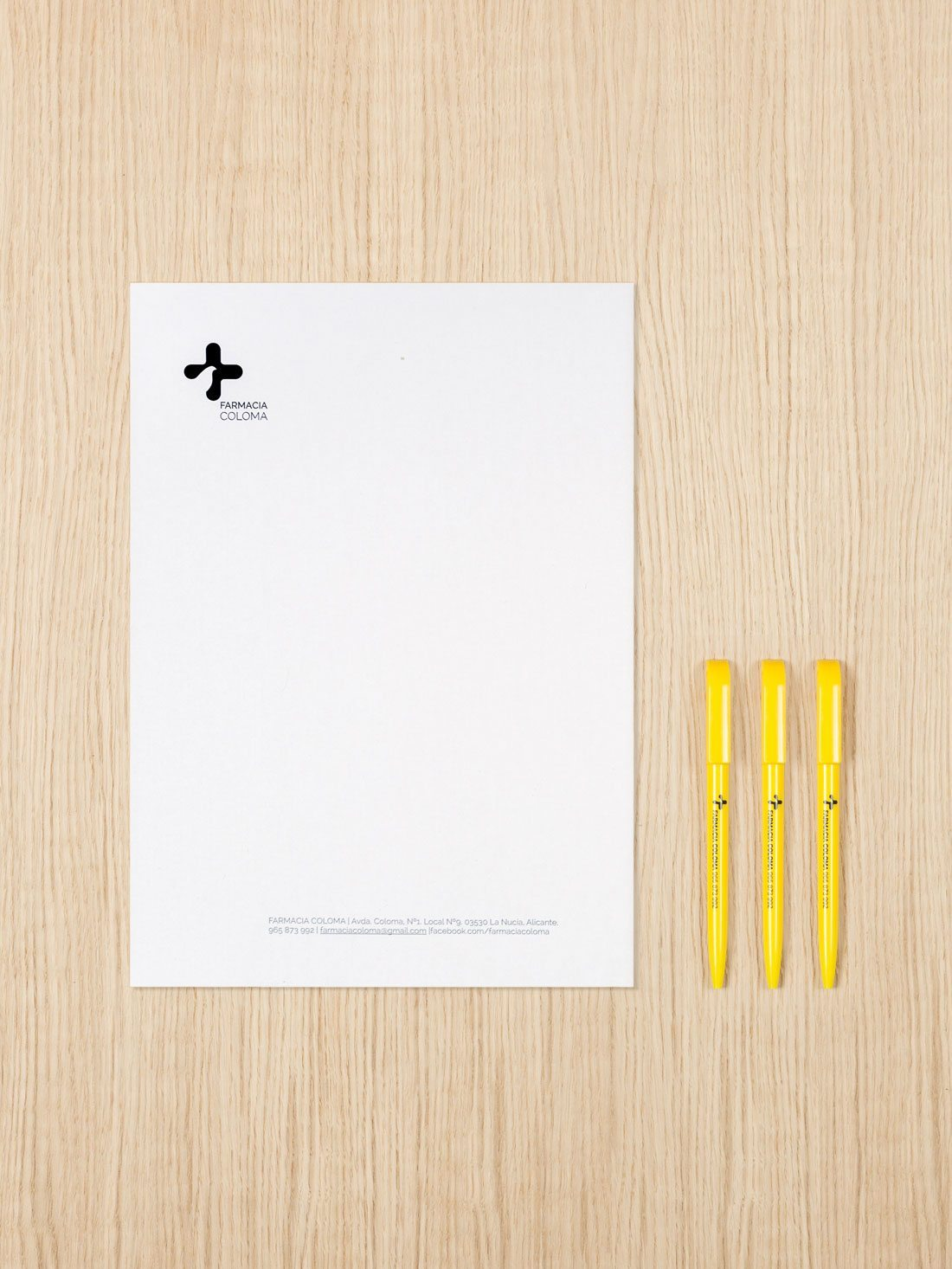 branding coloma. hoja de carta.