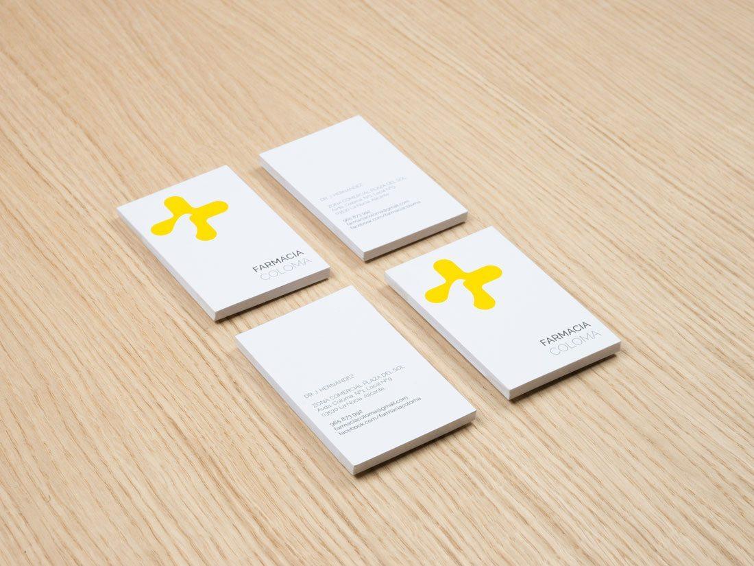 branding coloma. tarjetas.