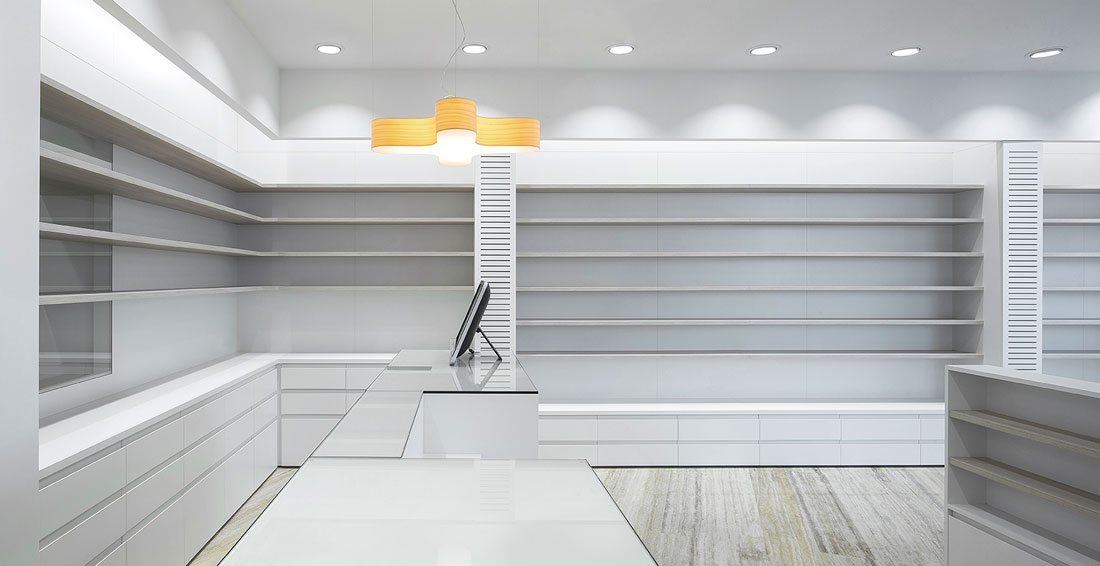 La nucia Pharmacy-interior-lighting-branding