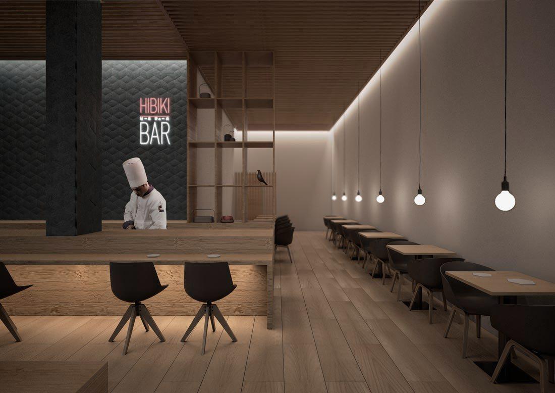 hibiki bar. zona de mesas.