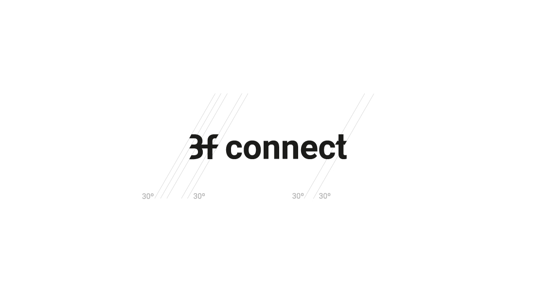 diseño de marca e identidad 3f connect electrics solutions logo